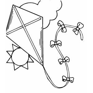 Printable Kite Coloring Pages | Coloring Me