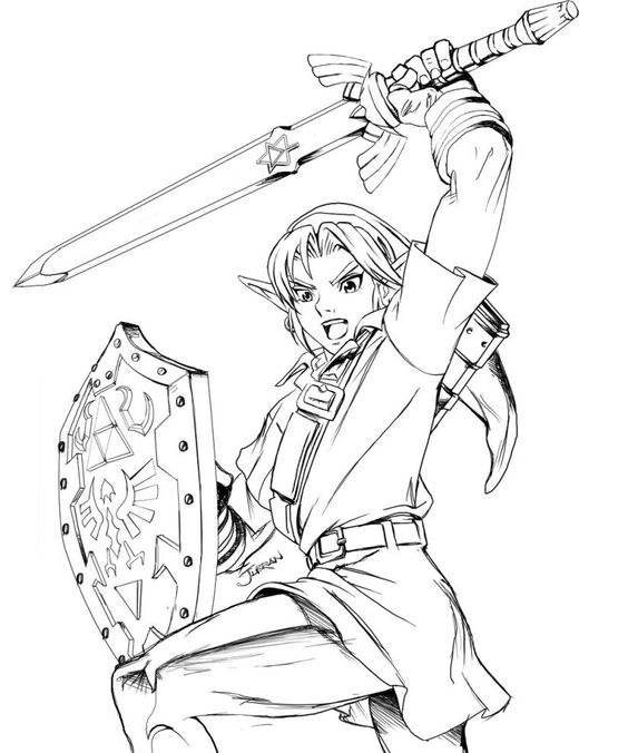 free zelda online coloring pages - photo#21