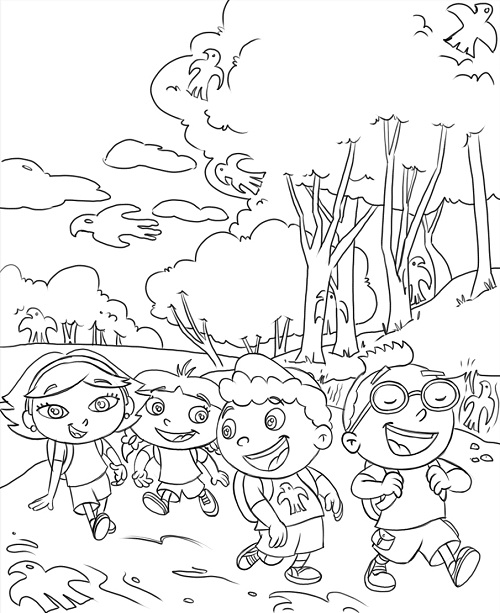 Printable Little Einsteins Coloring Pages Coloring Me