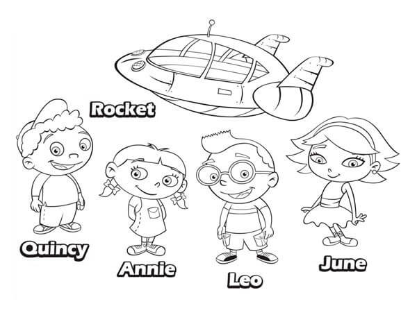 little einsteins printable coloring pages - little einsteins june coloring coloring pages