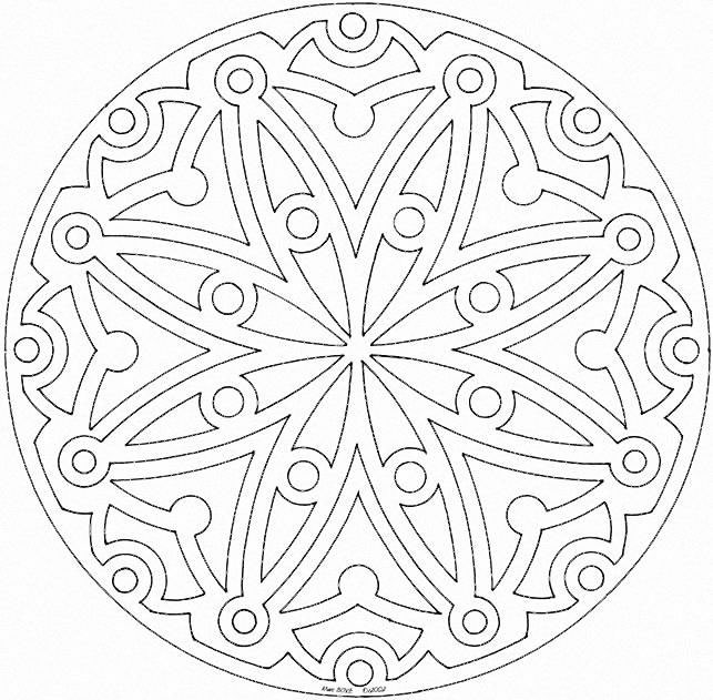 Printable Mandalas Coloring Pages