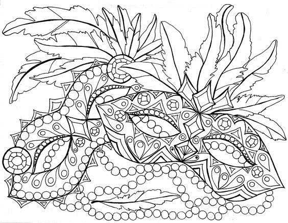Printable Mardi Gras Coloring Pages Coloring Me