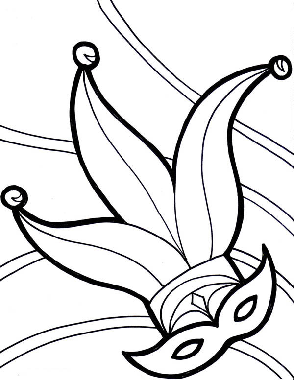 Printable Mardi Gras Coloring Pages | Coloring Me