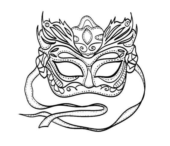 photo about Printable Mardi Gras Masks named Printable Mardi Gras Coloring Webpages