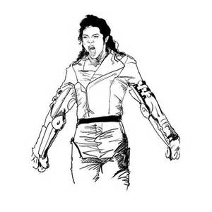 michael jackson thriller coloring pages