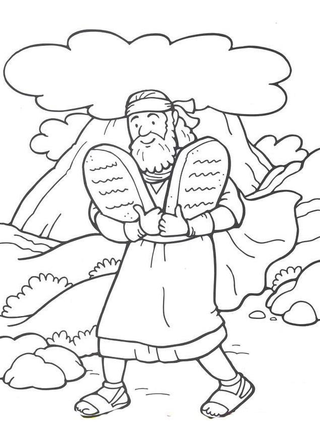 coloring pages story of moses - photo#23