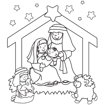 Printable Nativity Scene Coloring Pages Coloring Me