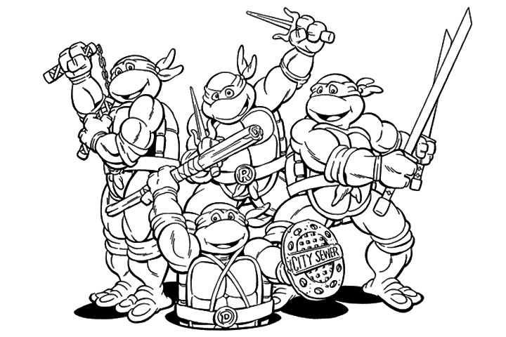 nickelodeon tmnt coloring pages