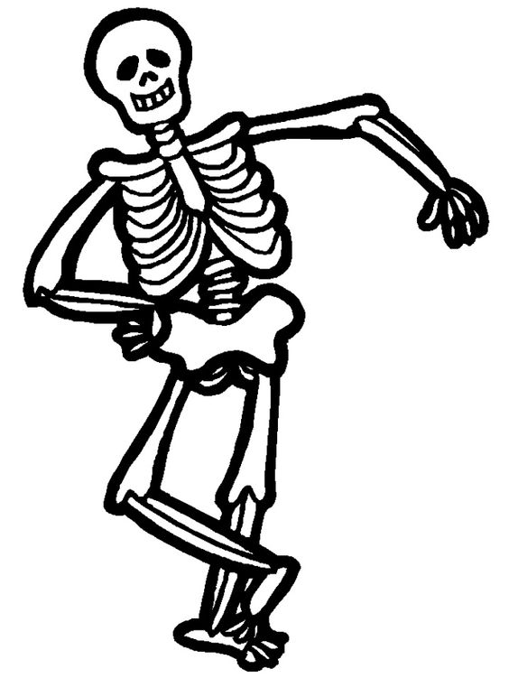 Skeleton Coloring Pages Pictures