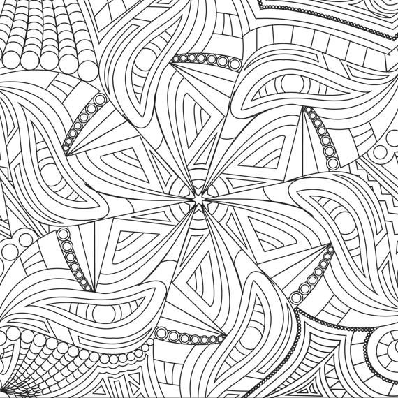Kaleidoscope Coloring Book Pages