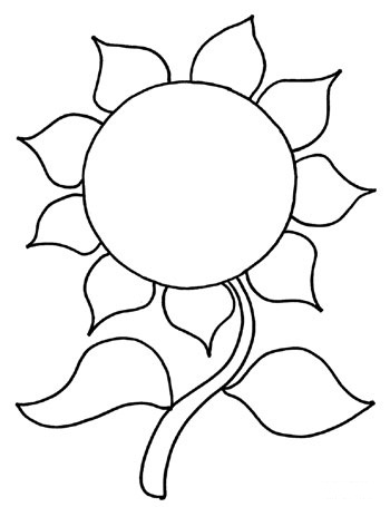 printable sunflower coloring pages | coloring me - Sunflower Coloring Pages Kids