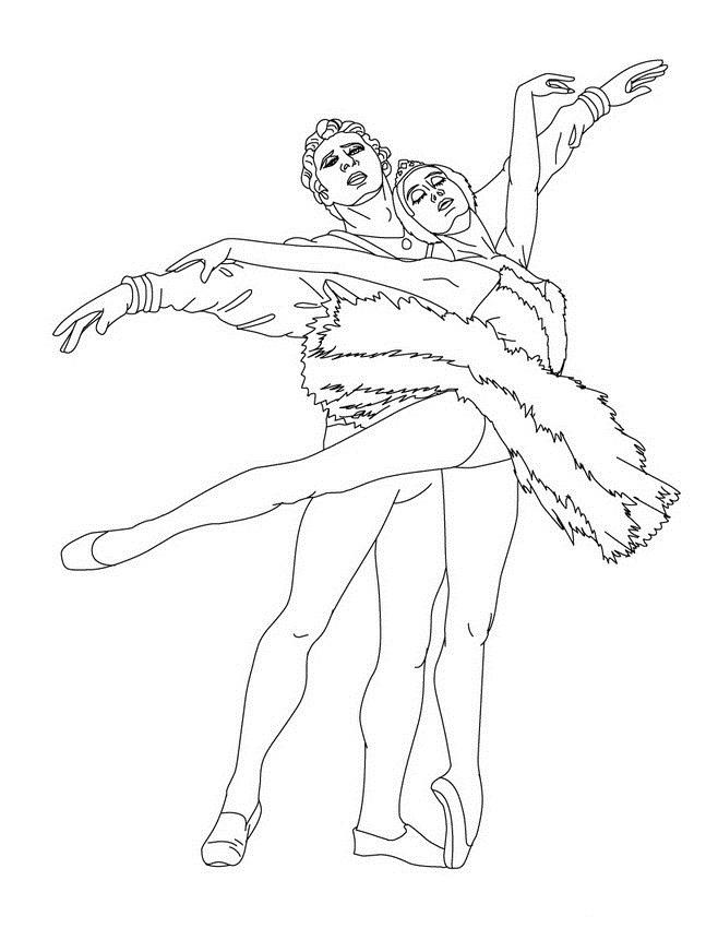 swan lake coloring pages | Swan Lake Ballet Coloring Pages Coloring Pages