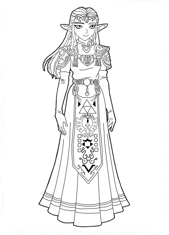 Printable Zelda Coloring Pages Coloringme Com