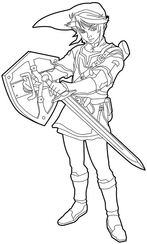 Printable Zelda Coloring Pages Coloringme Com