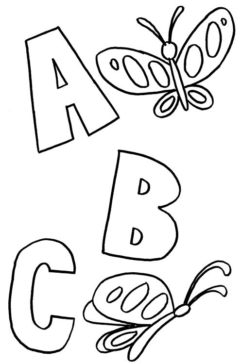 printable abc coloring pages coloring me - Alphabet Coloring Pages For Kids