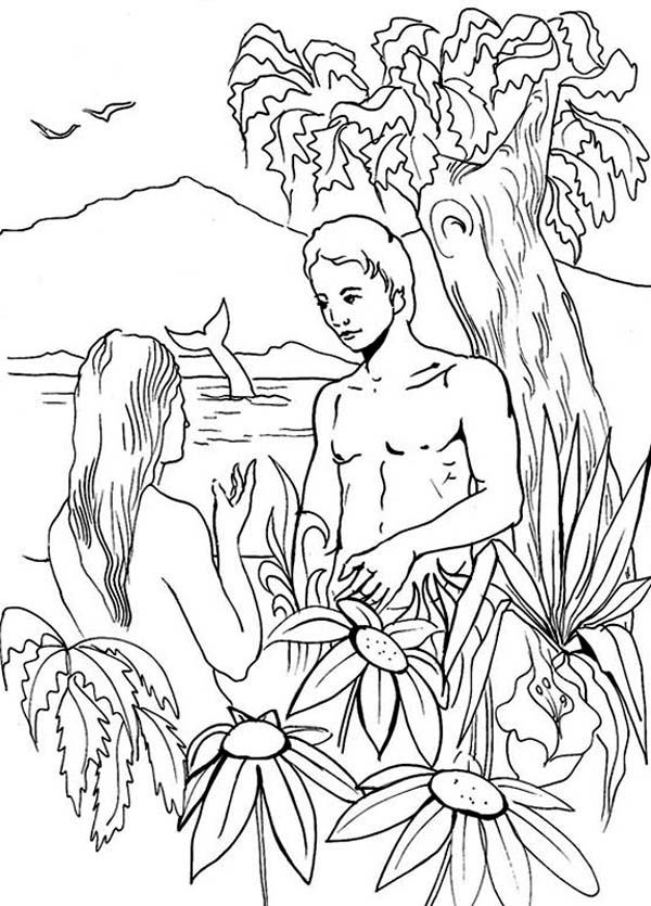 Printable Adam And Eve Coloring Pages Coloringme Com