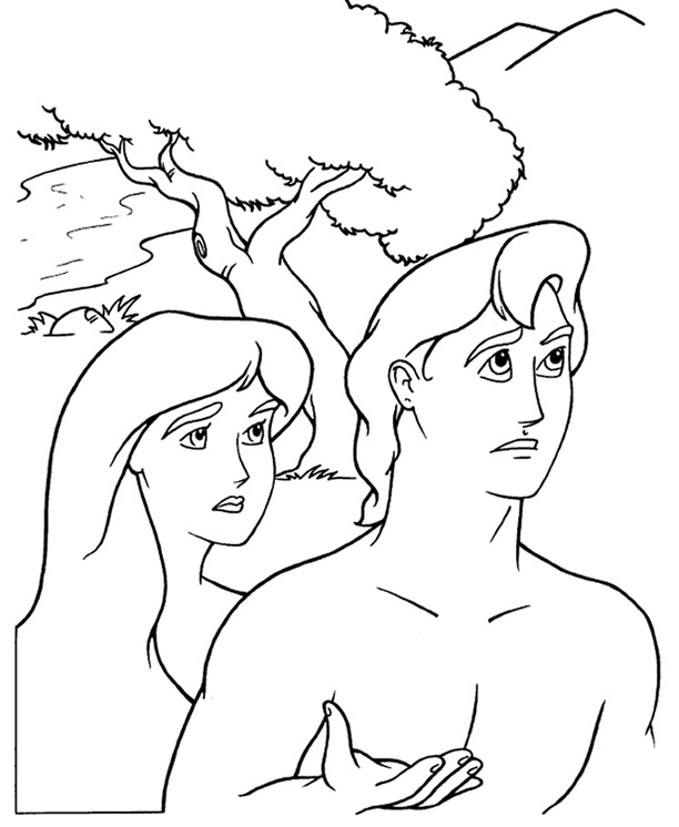 Adam And Eve Coloring Sheets