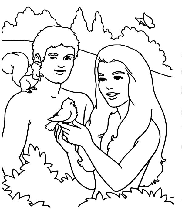 Printable Adam and Eve Coloring pages Coloring Me