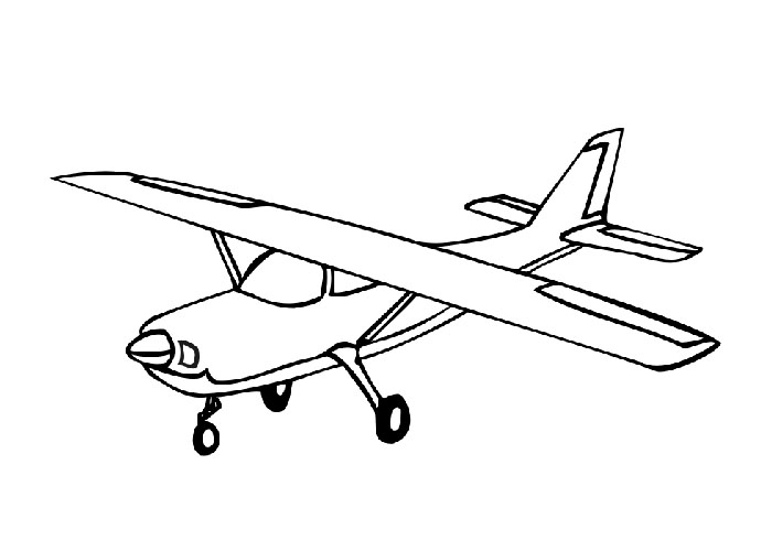 printabe airplane coloring pages | coloring me - Airplane Coloring Pages Printable