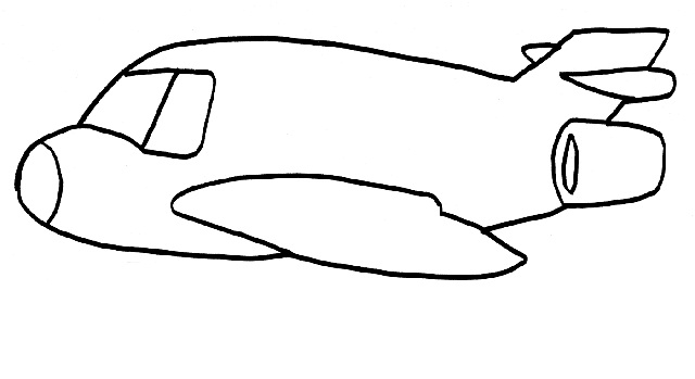 Printabe Airplane Coloring Pages Me
