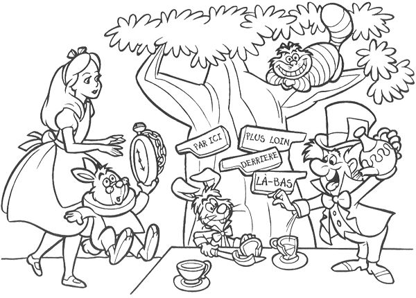 Printable Alice In Wonderland Coloring Pages ColoringMe.com