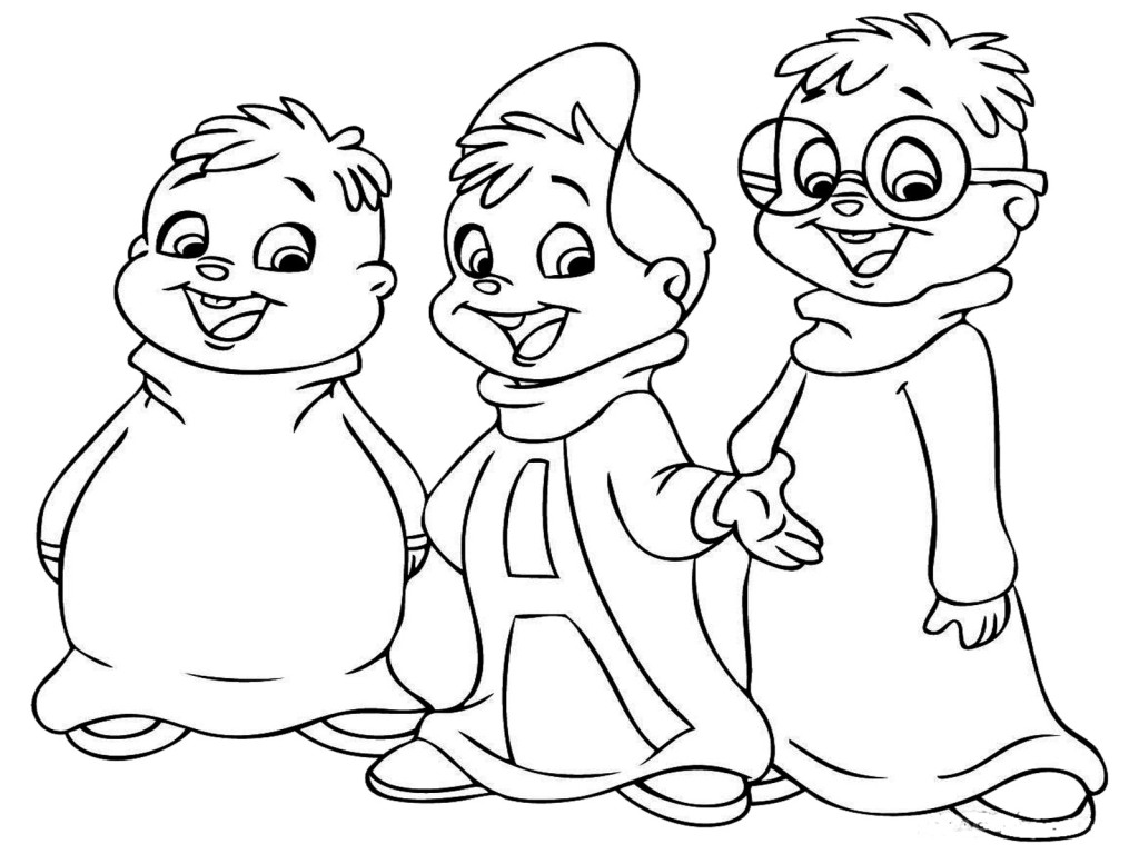 Printable Alvin and the Chipmunks Coloring Pages Coloring Me