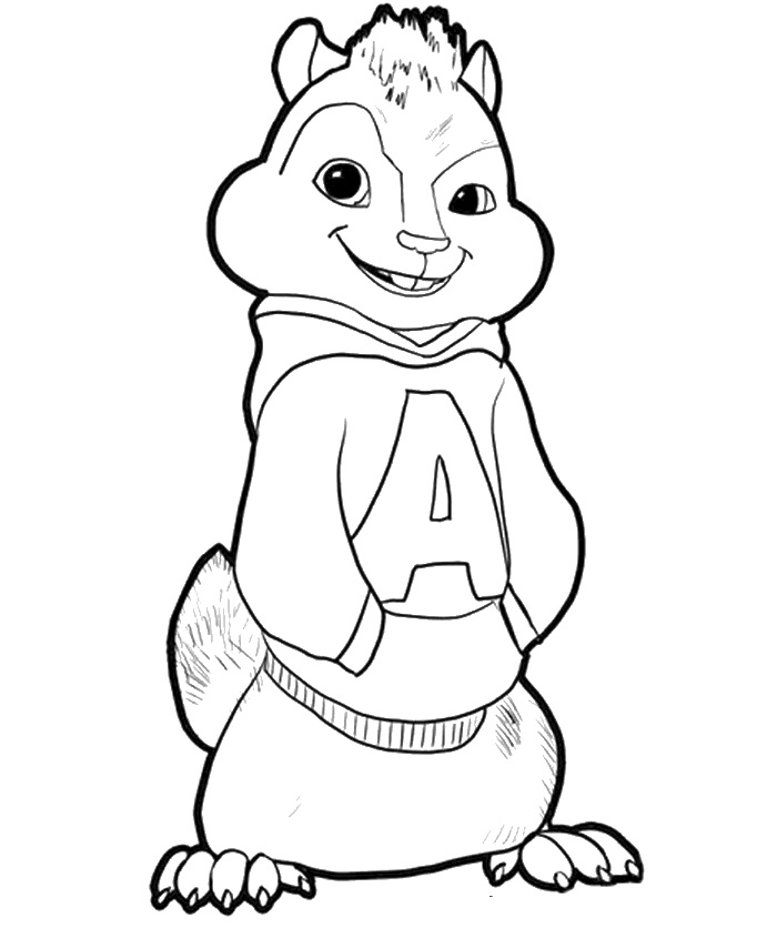 alvin and the chipmunks coloring pages theodore
