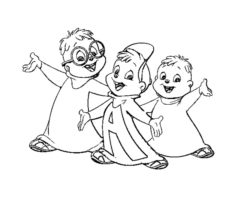 chipmunks coloring pages printable - photo#12