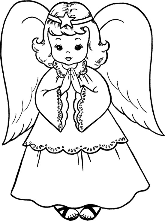 Printable Angel Coloring Pages Me
