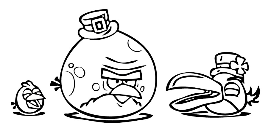 Printable Coloring Pictures Of Angry Birds  Coloring Pages