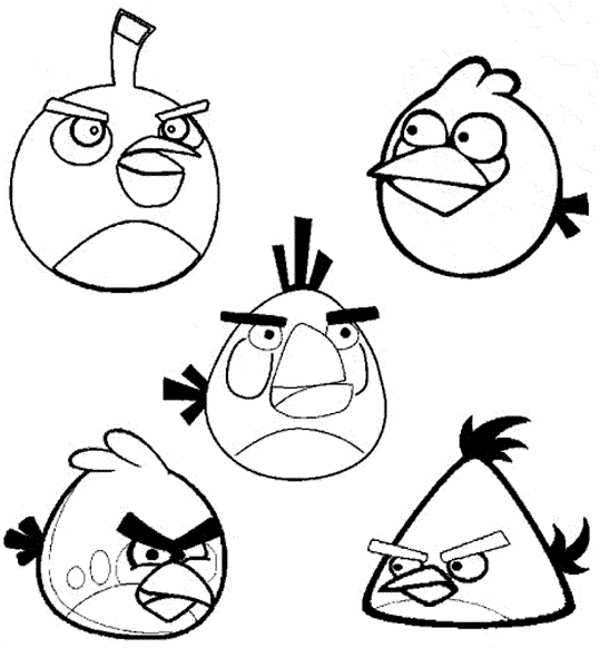 picture regarding Angry Birds Printable Faces named Printable Indignant Birds Coloring Internet pages