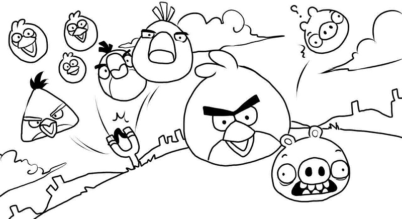 Printable Angry Birds Coloring Pages | ColoringMe.com