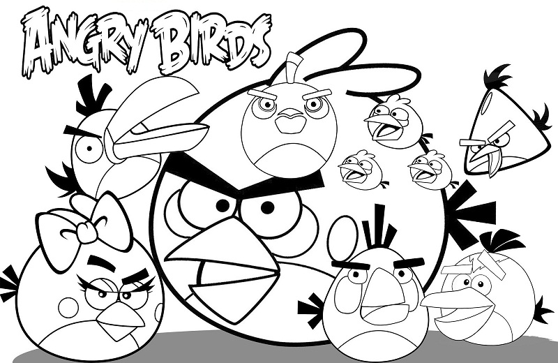 Gratis Kleurplaten Angry Birds.Printable Angry Birds Coloring Pages Coloringme Com