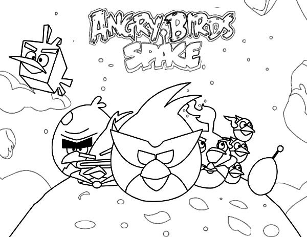 space angry bird coloring pages - photo#7