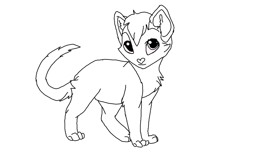 Warrior Cat Coloring Sheets