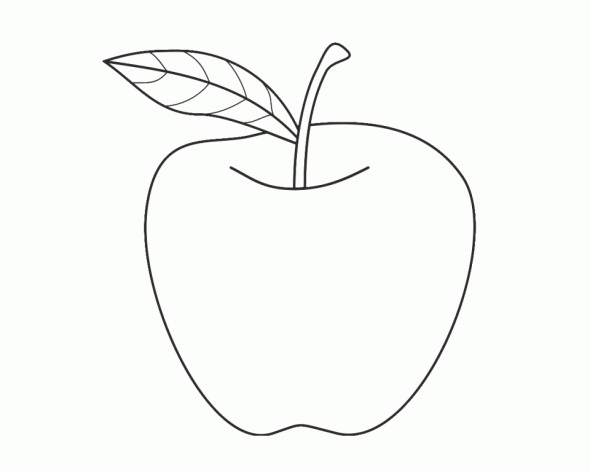 image about Printable Apple Pictures named Printable Apple Coloring Internet pages
