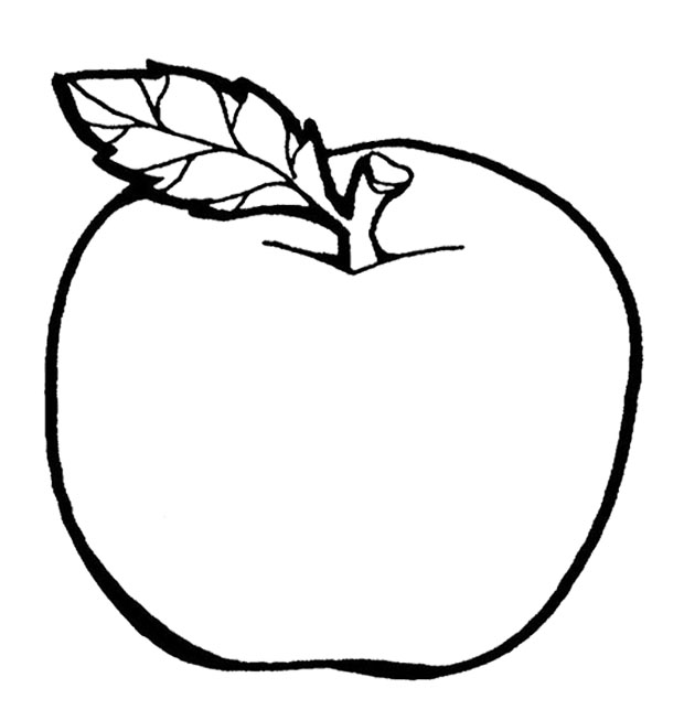 a apple coloring pages - photo #6