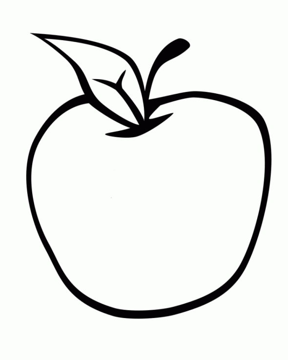 Printable Apple Coloring Pages Coloring Me Coloring Page Of An Apple