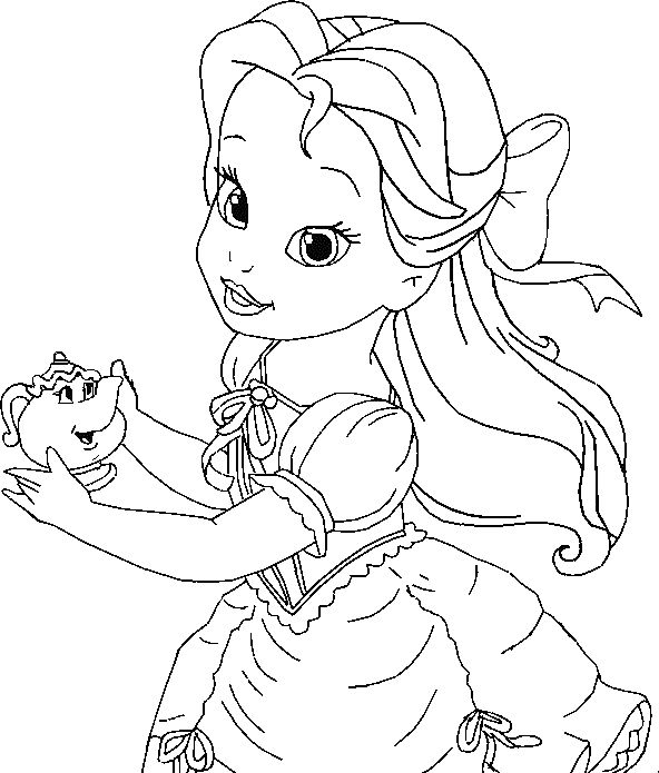 coloring pages of disneys belle - photo#28