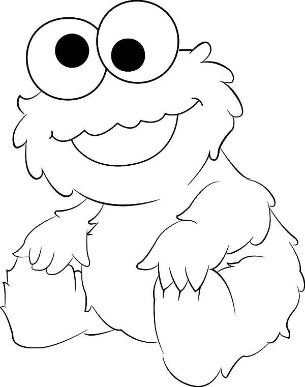 Cookie Monster Toasting Marshmallows Coloring Pages ...