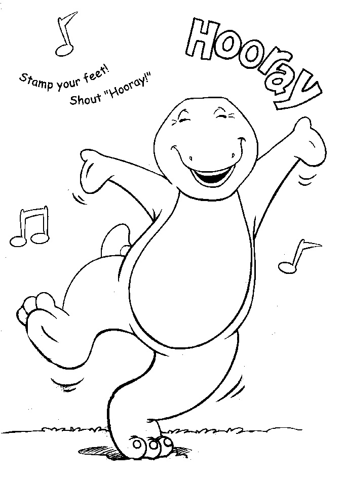 printable barney coloring pages coloring me