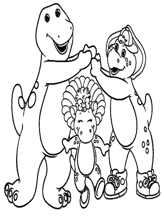 Printable Barney Coloring Pages | Coloring Me