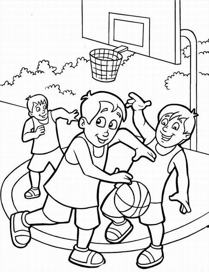 Attractive Printable Basketball Coloring Pages Embellishment ...