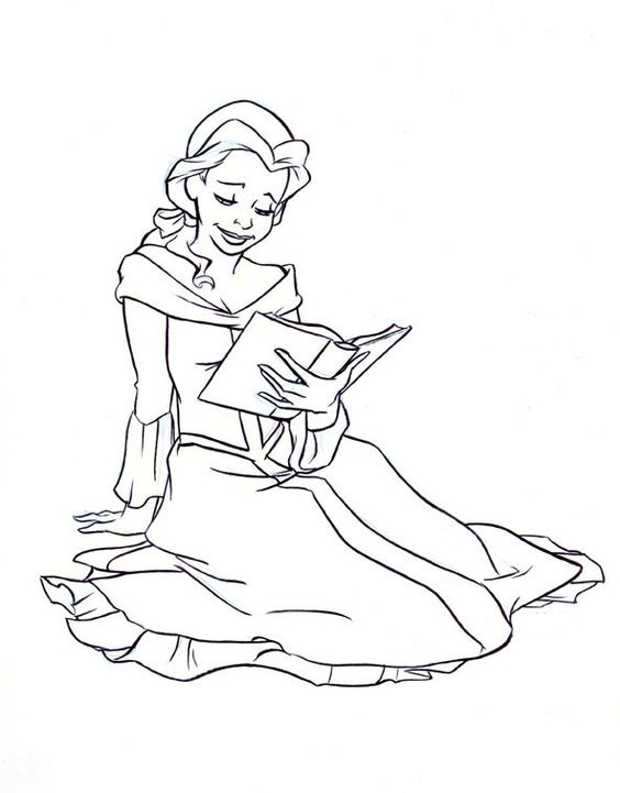Belle coloring coloring pages for Belle coloring pages