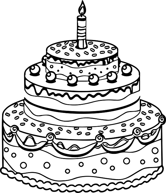 Birthday Cake Pictures To Color : Printable Birthday Cake Coloring Pages Coloring Me