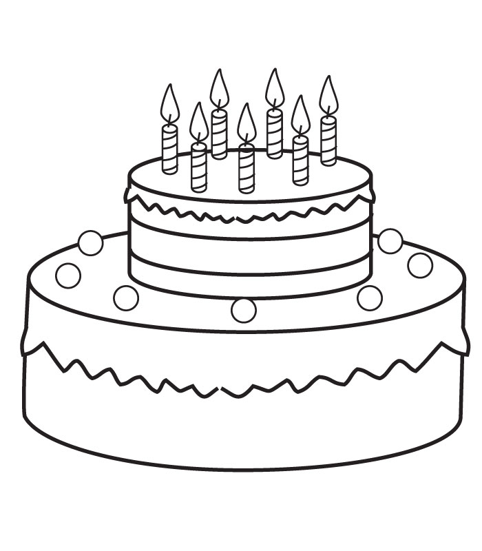 Birthday Cake Coloring Pages Preschool Coloring Me