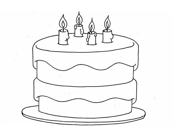 Cake Pictures To Print And Colour : Printable Birthday Cake Coloring Pages Coloring Me