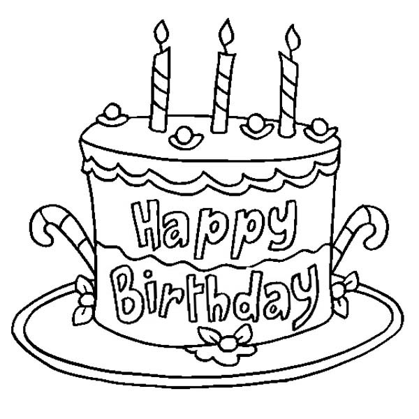 Pictures Of Cake To Colour In : Printable Birthday Cake Coloring Pages Coloring Me
