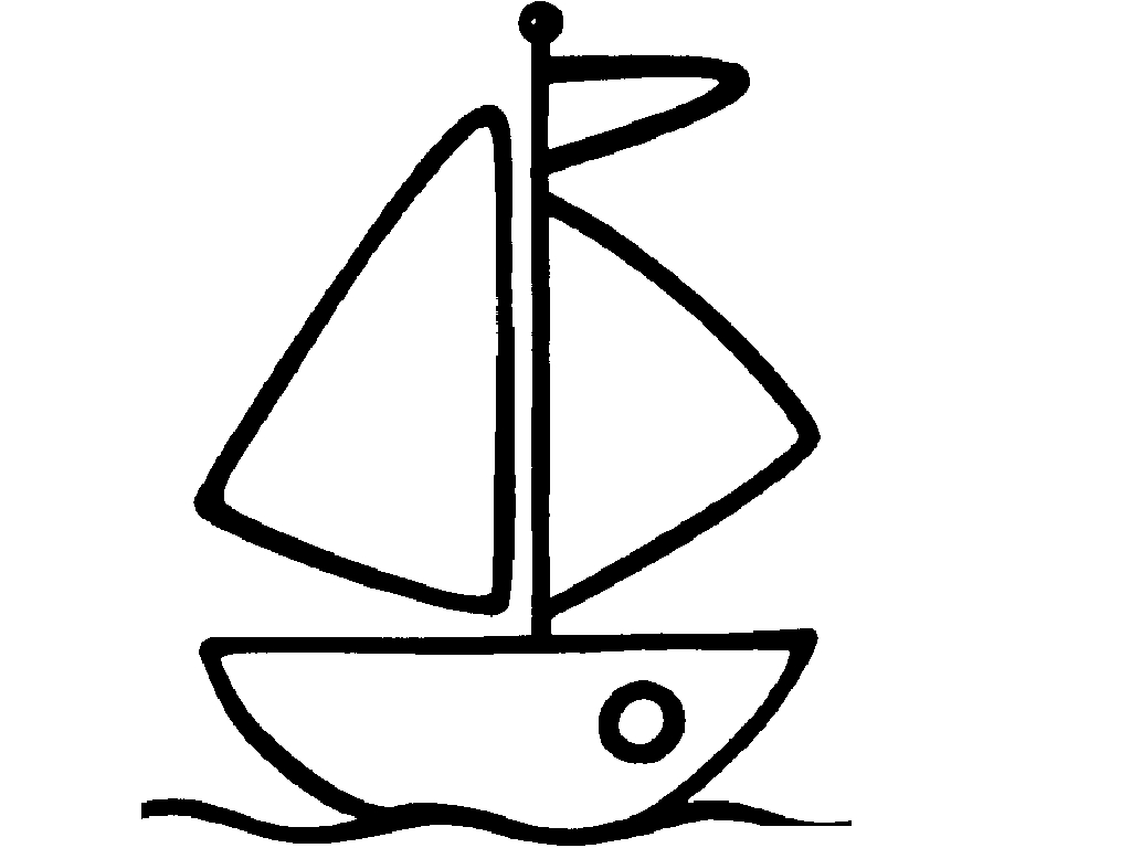 Easy boat coloring coloring pages for Boat coloring page
