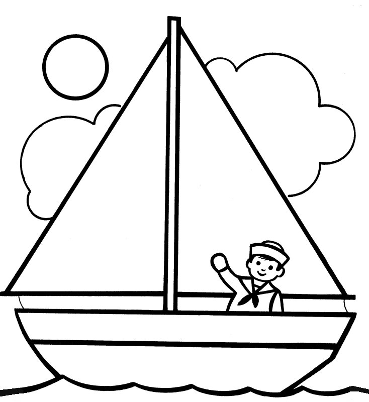 yacht coloring pages - photo #16